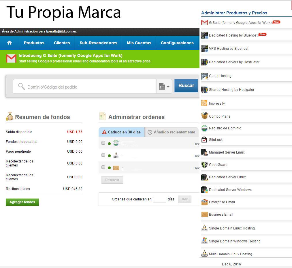 vender dominios y hosting